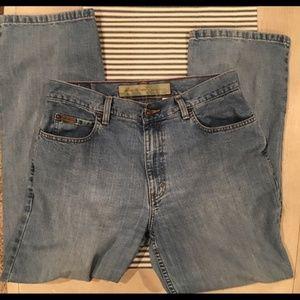 "Eddie Bauer HIGH RISE ""Mom Jeans"" 12 petite"